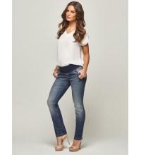 Calça Reta Iris | Cor: Jeans Azul