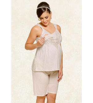 Pijama regata com shorts | Cor: Champagne