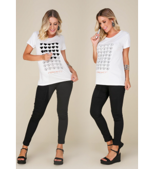 Camiseta semanas | Cor: Branca
