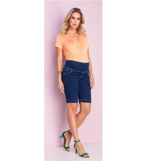 Bermuda Jeans Strech | Jeans escuro