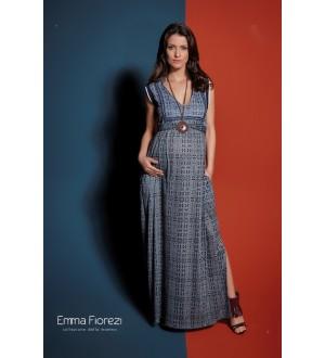Vestido estampado sianinha | Cor: Azul