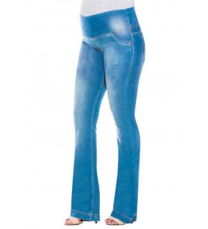 Calça Flare Jeans | Cor: Azul claro