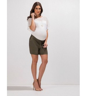 Shorts tecido | Cor: Verde militar
