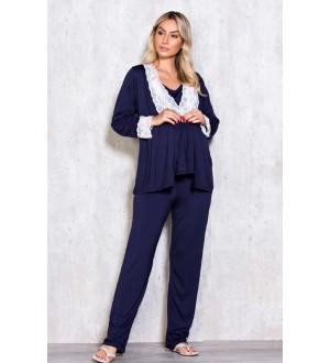 Pijama 3 peças | Cor: Azul Marinho